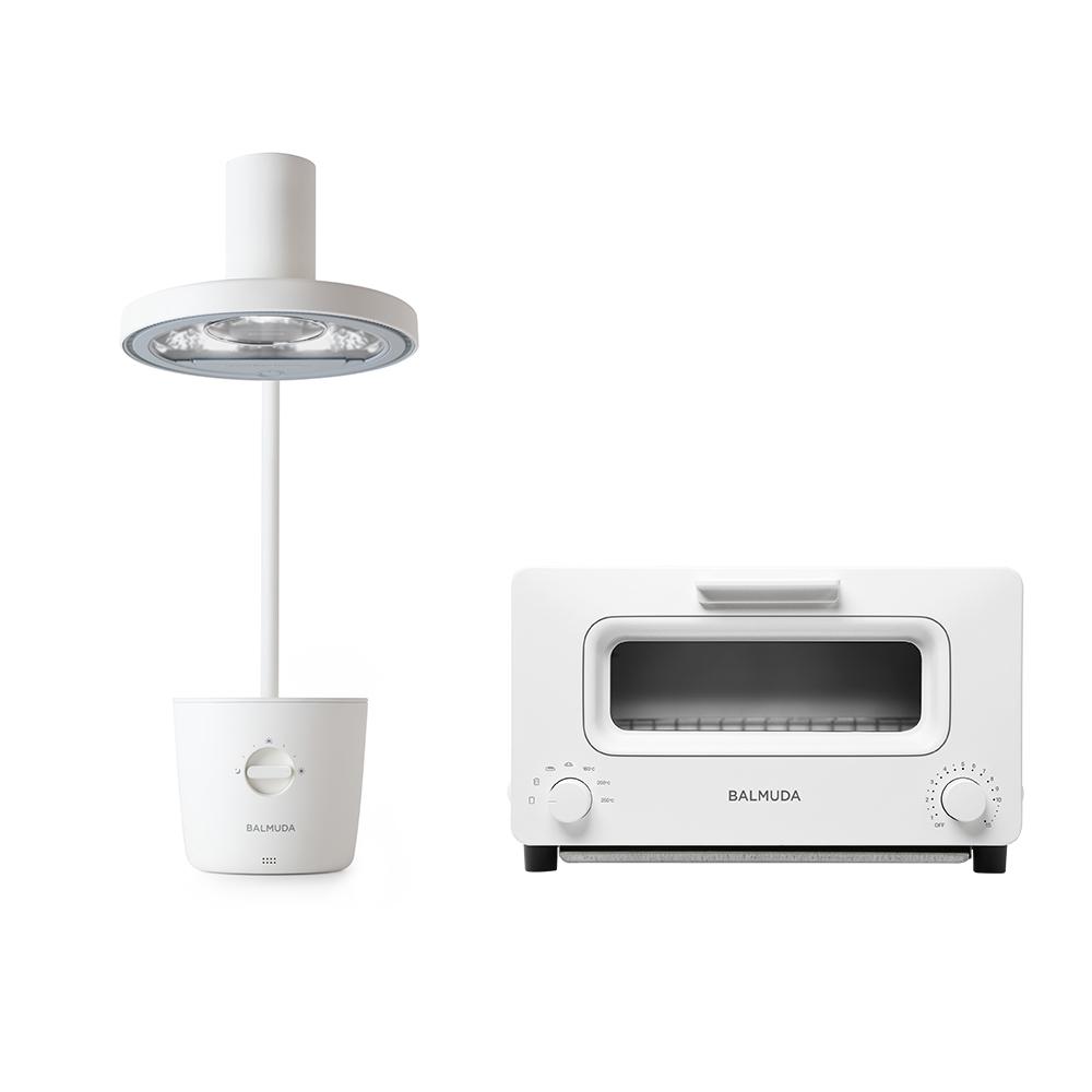 太陽光LED檯燈+蒸氣烤麵包機