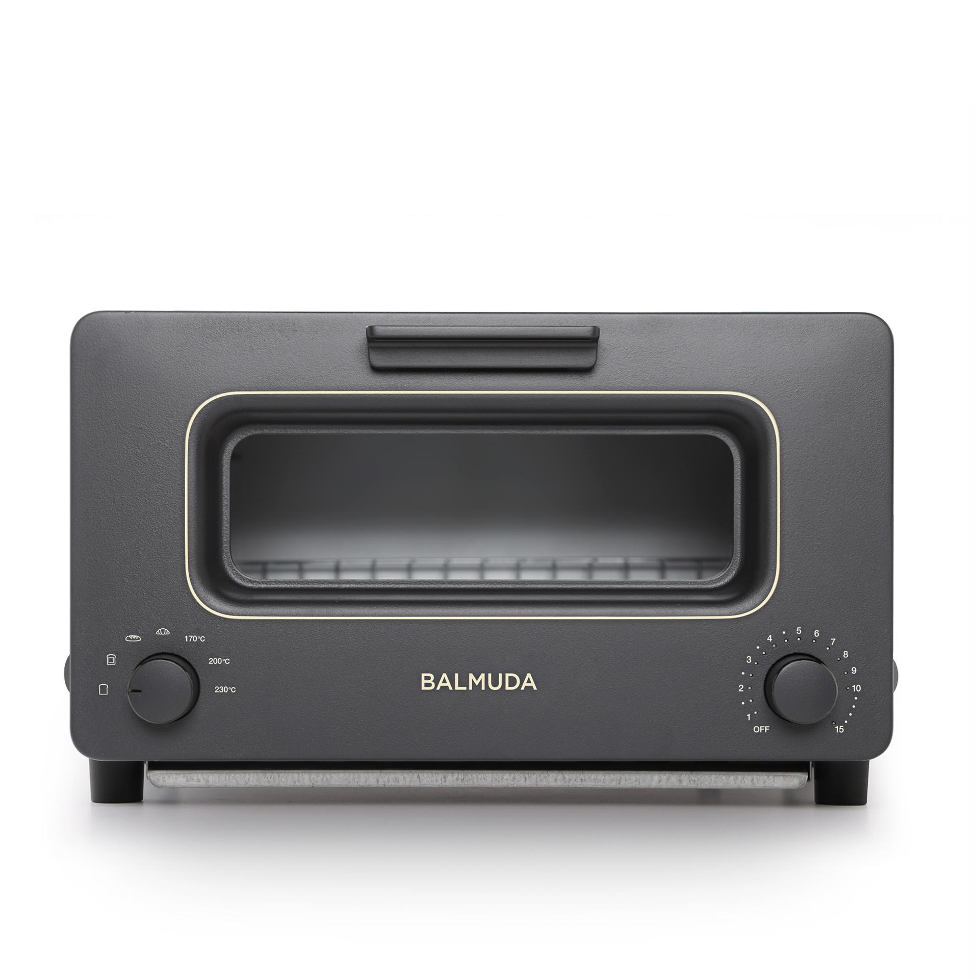 蒸氣烤麵包機 經典黑白色